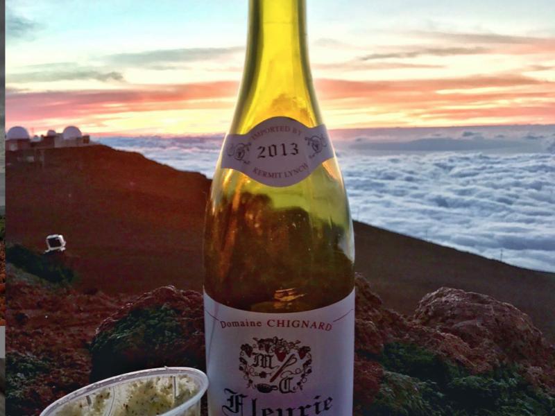 Beaujolais by Domaine Chignard, Maui and the volcano